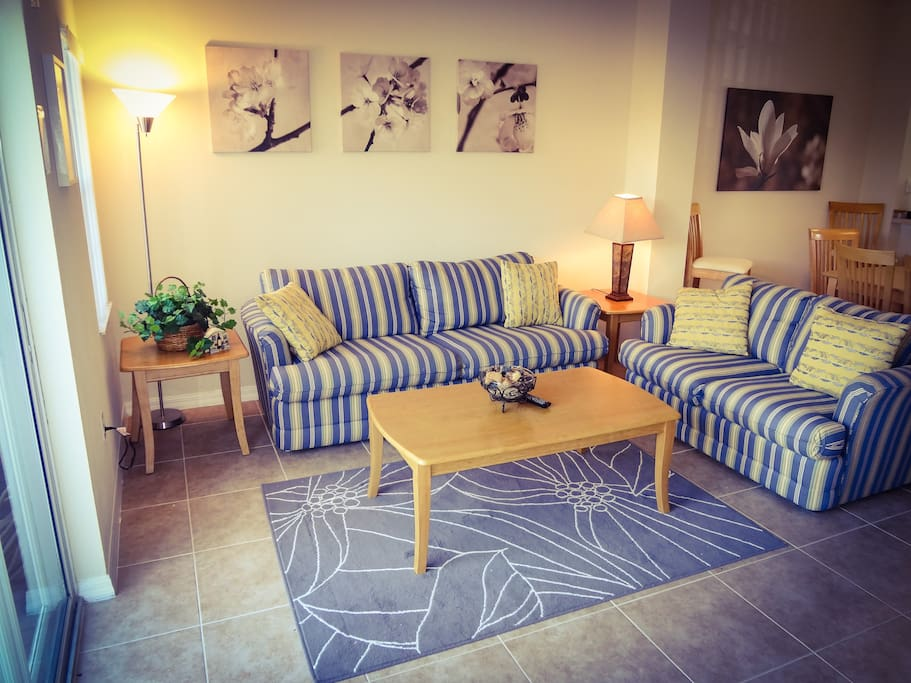 Open concept Family Room with sofabed