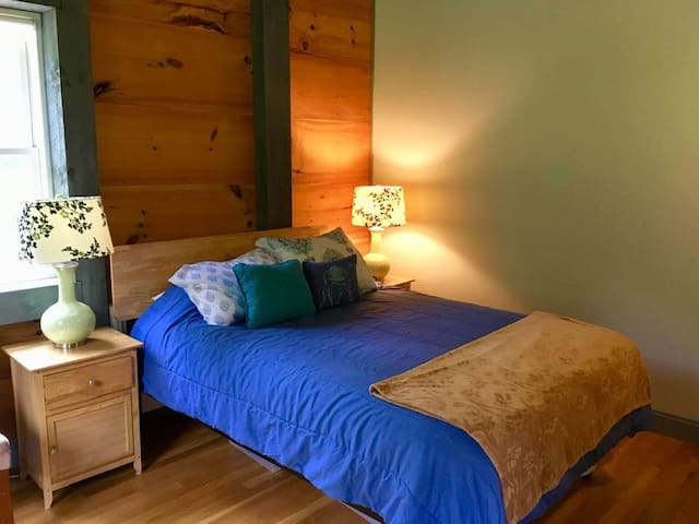 Full sized very comfy bed in your own private master bedroom