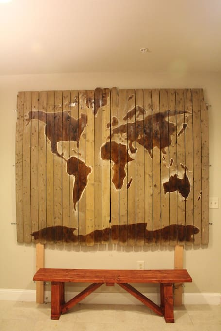 Wall art in the kitchen.