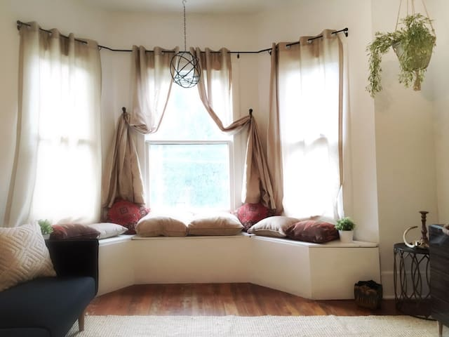 Private 2BR bright historic apt, King + Queen beds