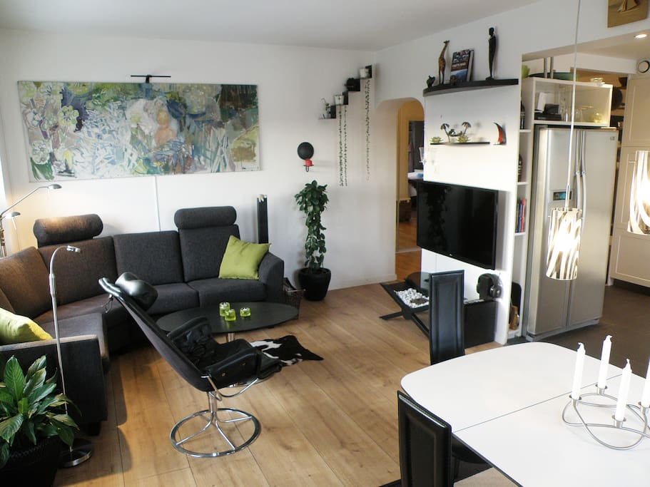 cozy corner with TV