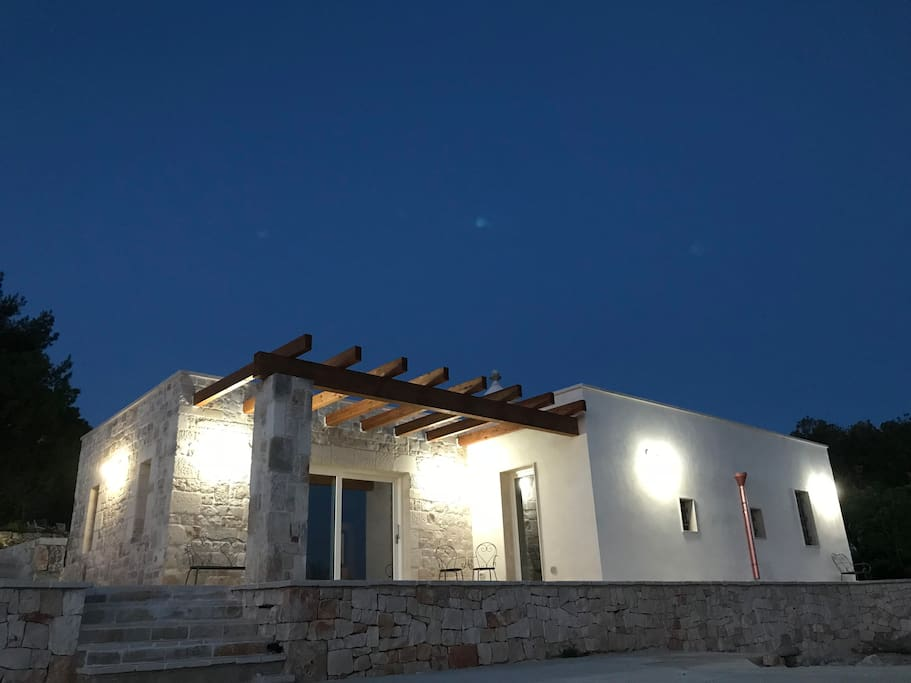 Original stone built ancient trullo with original exposed stone walls and barrel vaulted ceilings internally.