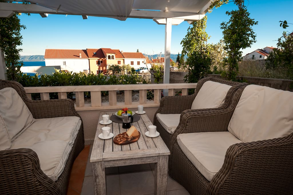 Relax on the terrace and start enjoying your holidays!