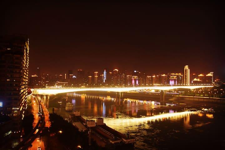 【开业特惠-名古屋なごや】洪崖洞旁,解放碑商圈江景豪宅 - Chongqing - Apartment