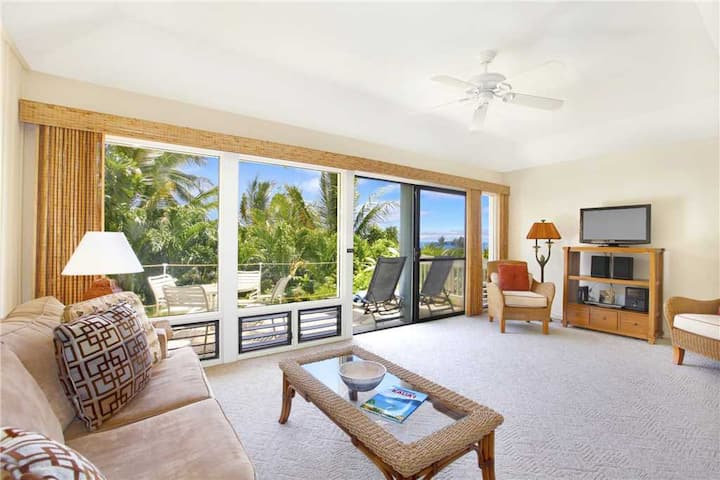 "Poipu Newly Remodeled Ground Floor ""A/C Bedroom"" *Manualoha 606*"