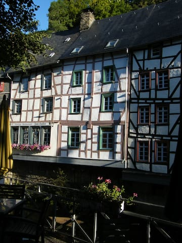 View of the holiday house from the market square.