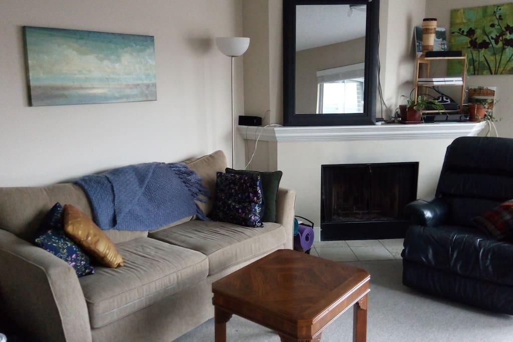 Comfy shared living room.