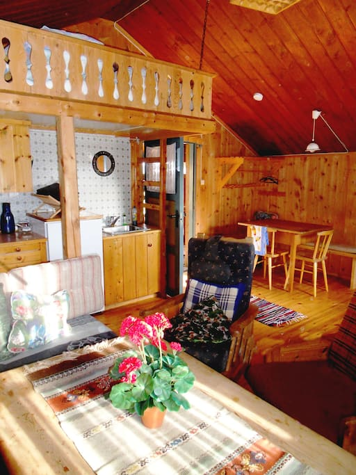 The chalet is modernised inside.