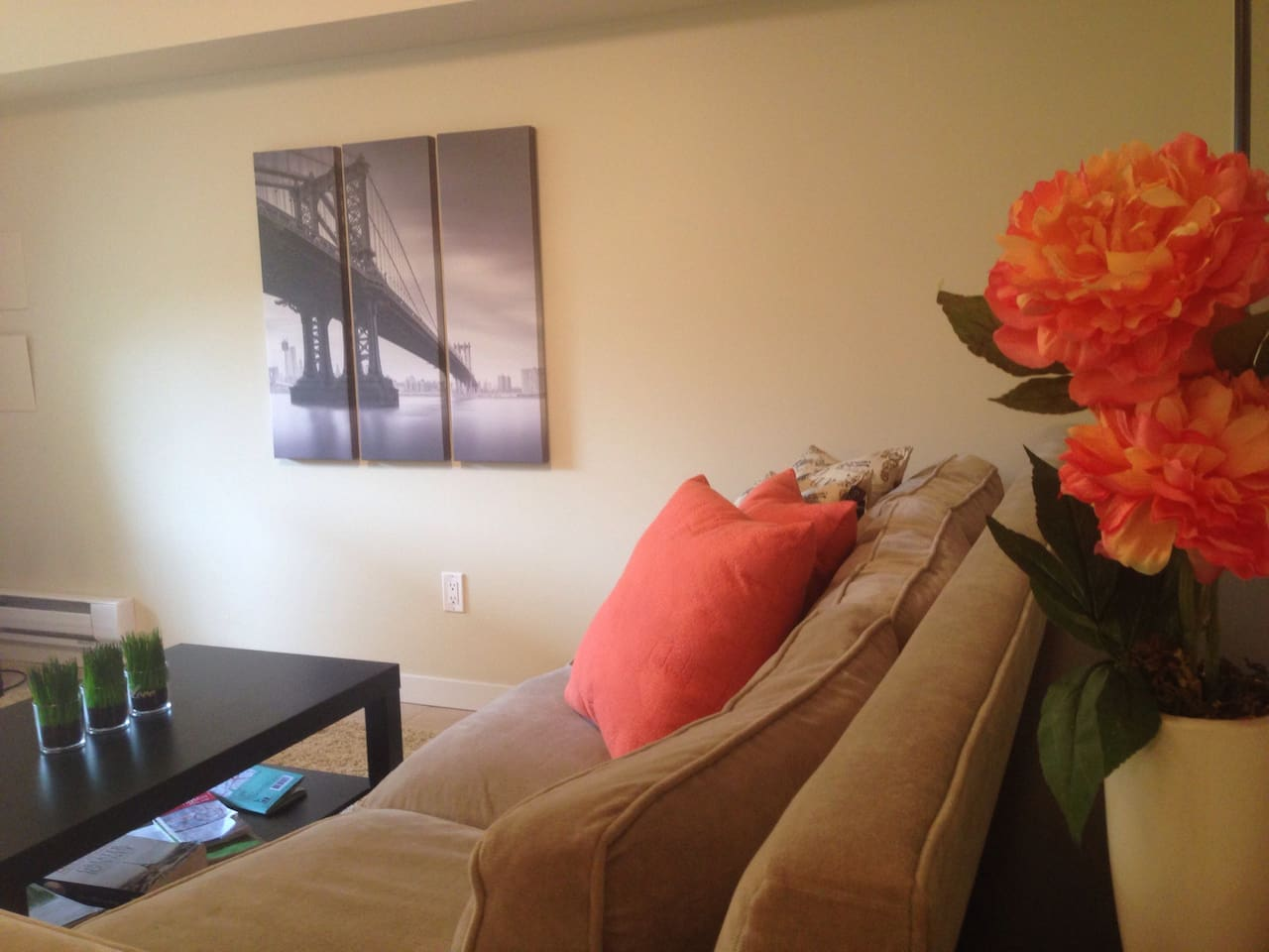 Big two bed,  one bath suite with private entrance and lots of amenities !