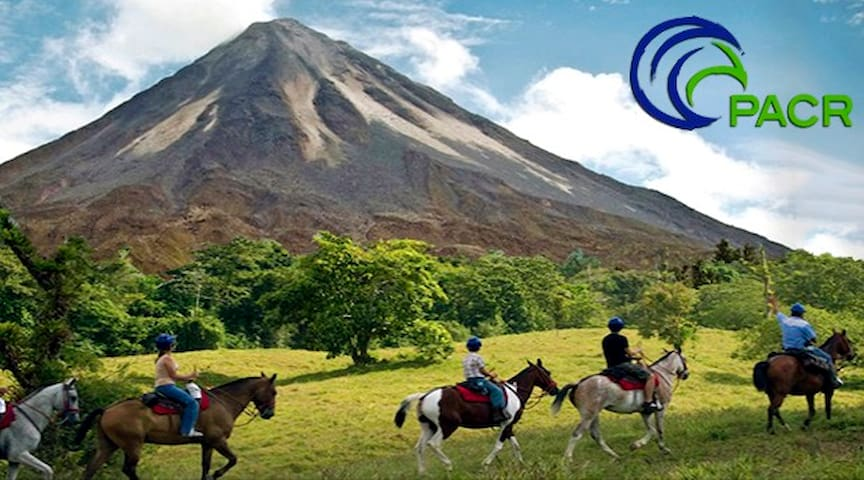 Guided Horseback to the Arenal Volcano