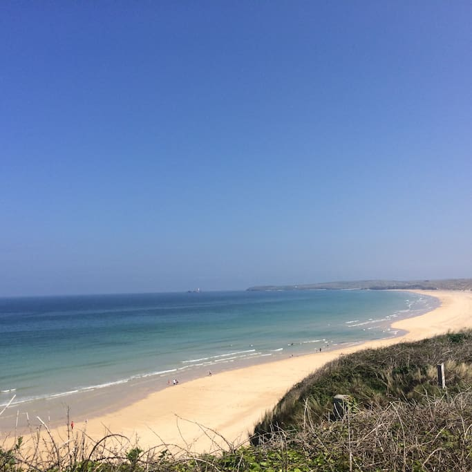 HAYLE Beach 3 miles of golden sands and the area called Mexico beach is dog friendly.