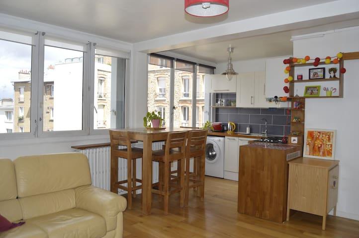 Appartement lumineux proche Paris