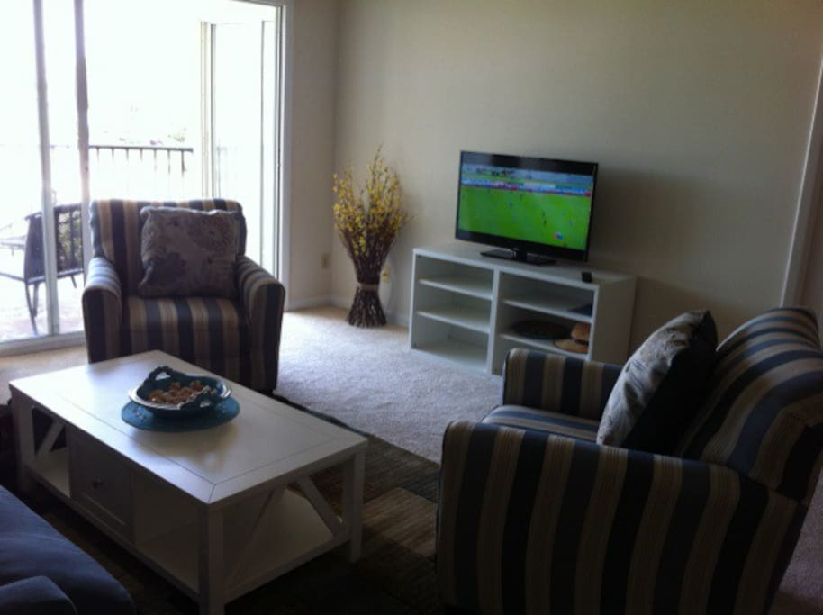 Living Room, with television