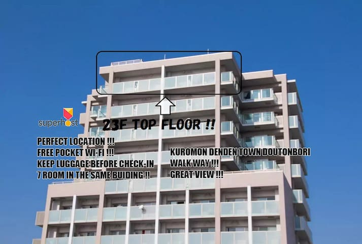 R26 23F TOP FLOOR TOWER APT 7MINS FROM NAMBA !! - Naniwa-ku, Ōsaka-shi - Apartment