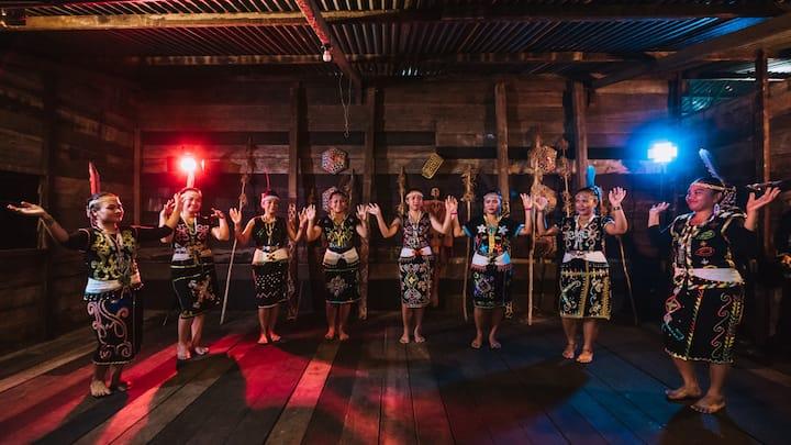 Murut Traditional Dance Performing