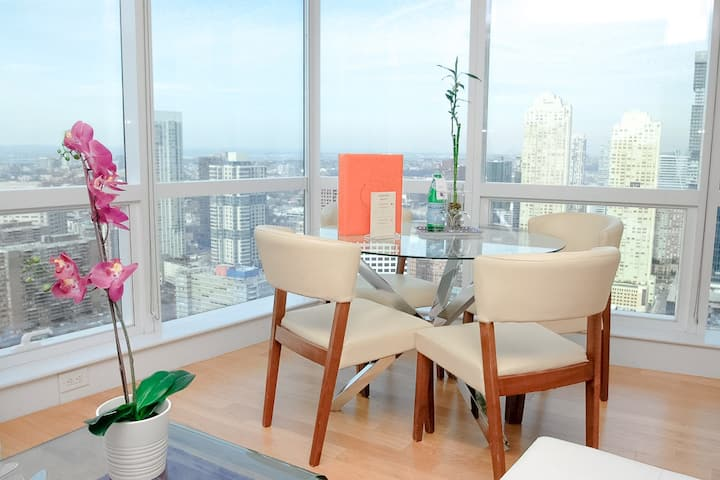 Dharma | Jersey City | Tranquil 2BR + City Views