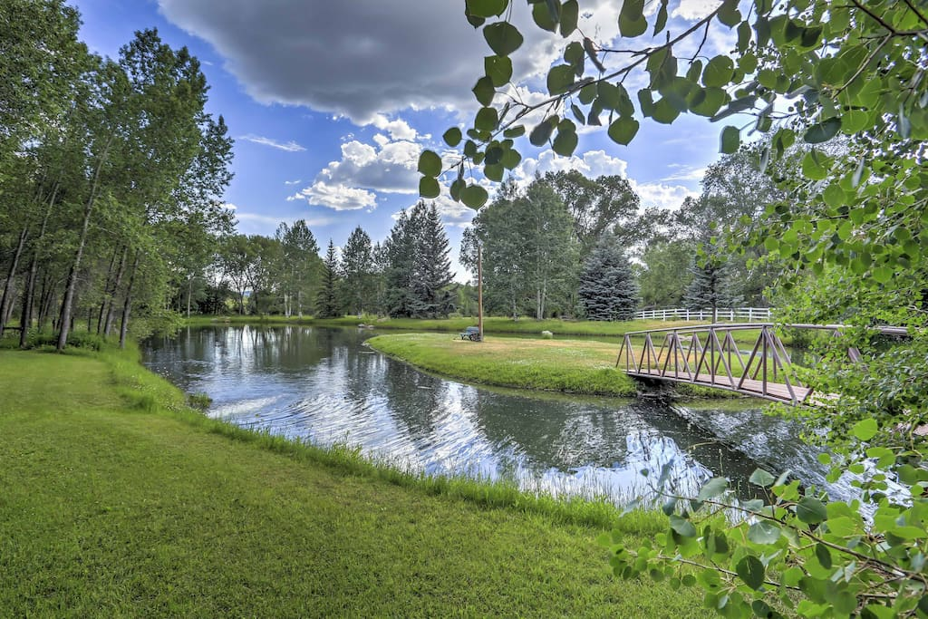 Spend your days exploring the serene pond, 2 creeks, and a river.