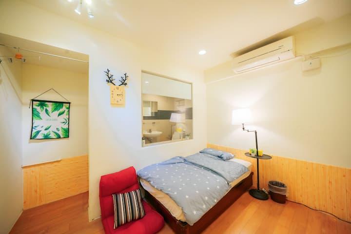 【Dink Apt Room C房】捷運MRT private toilet 背包客 可月租