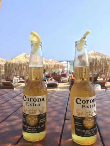 STRANDNAHE Ferienwohnung mit Klima - Nea Peramos - Daire