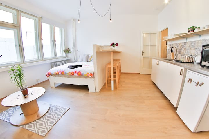 New scandi style apartment in the real city center