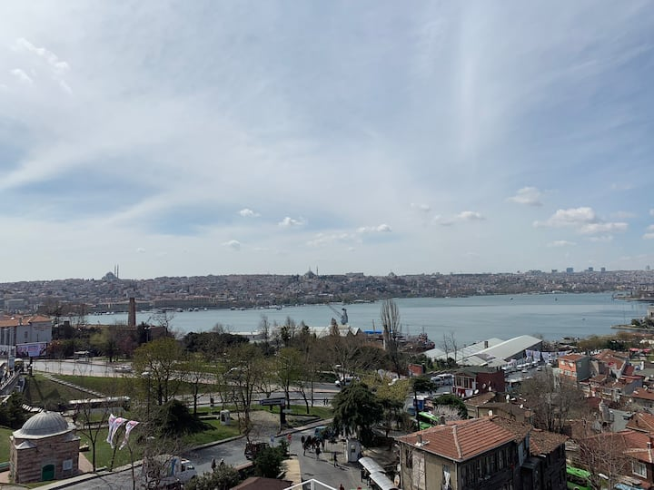Golden Horn Sea View 15 Meters To Şişhane Metro