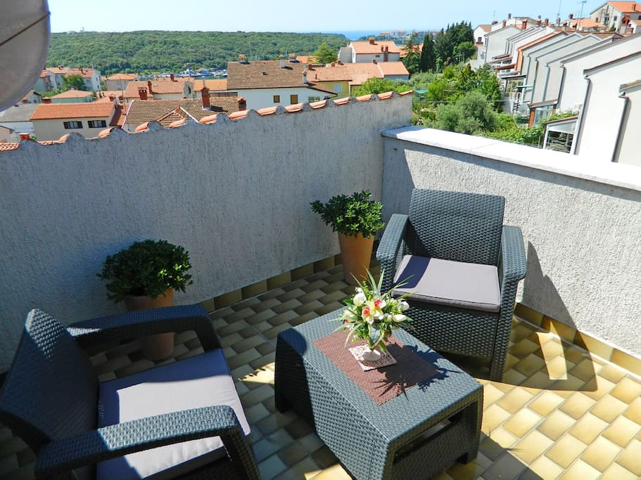 Private balkon with seaview