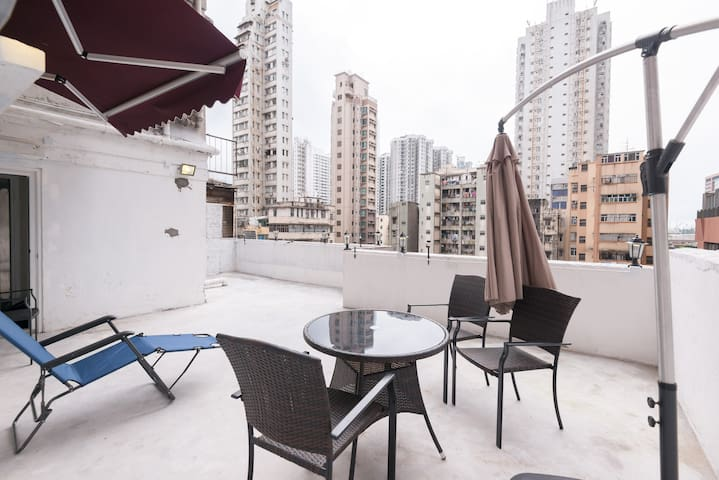 P010-PRIVATE balcony@ymt MTR - Hong Kong - Apartamento