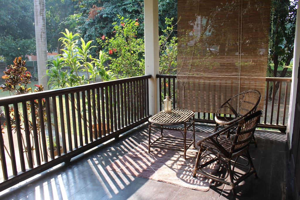 The front porch is a great place to spend a relaxing afternoon.