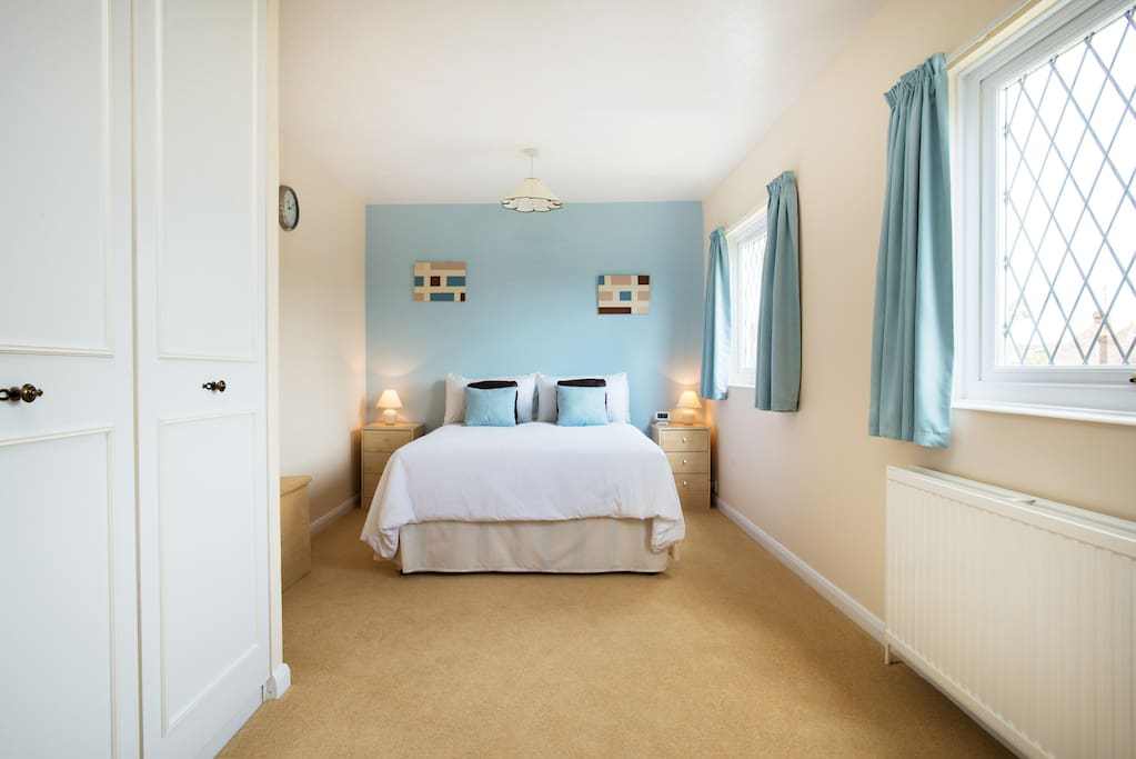 Comfortable bright spacious double bedroom
