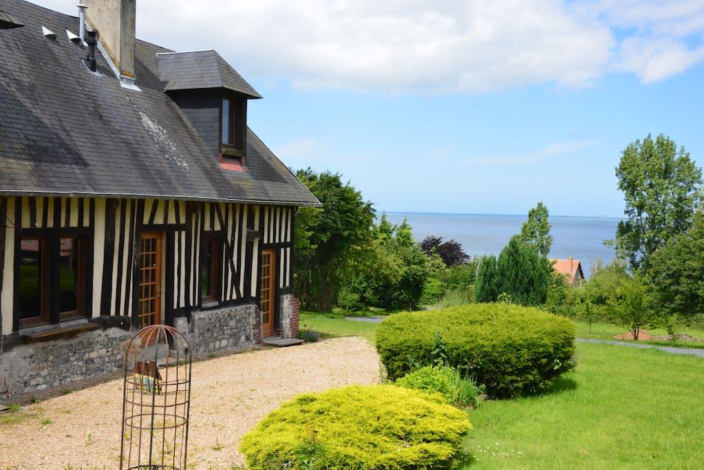 Maison de charme vue mer 150m plage houses for rent in honfleur lower norm - Maison de charme normandie ...