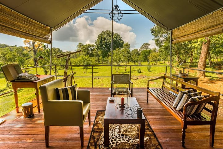 Luxury all-suite tented camp in remote wilderness