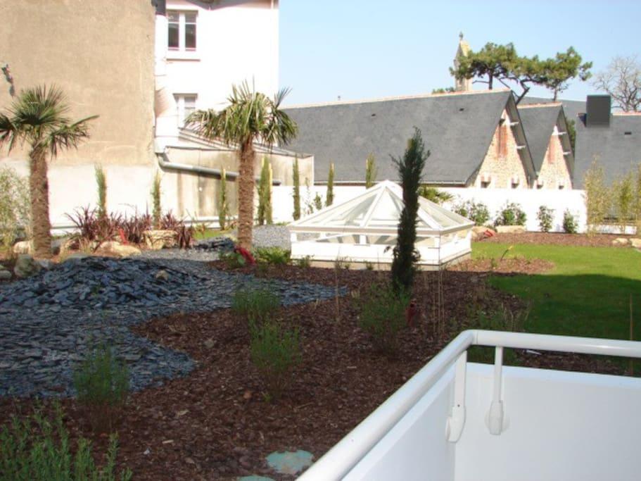 terrasse sur jardin 1er étage