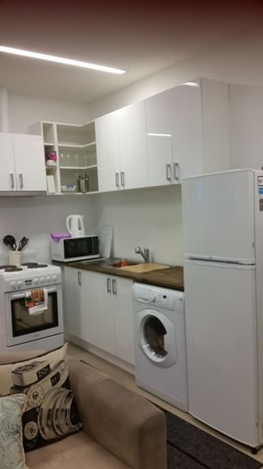 Kitchen with Washer-Dryer