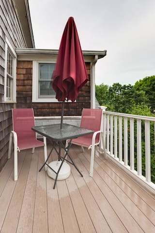 Private deck entry suitable for expanded living space