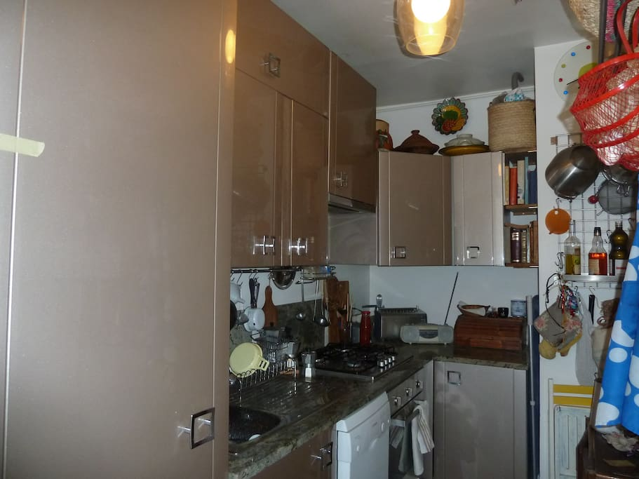 Modern and well equipped kitchen washing dishes included
