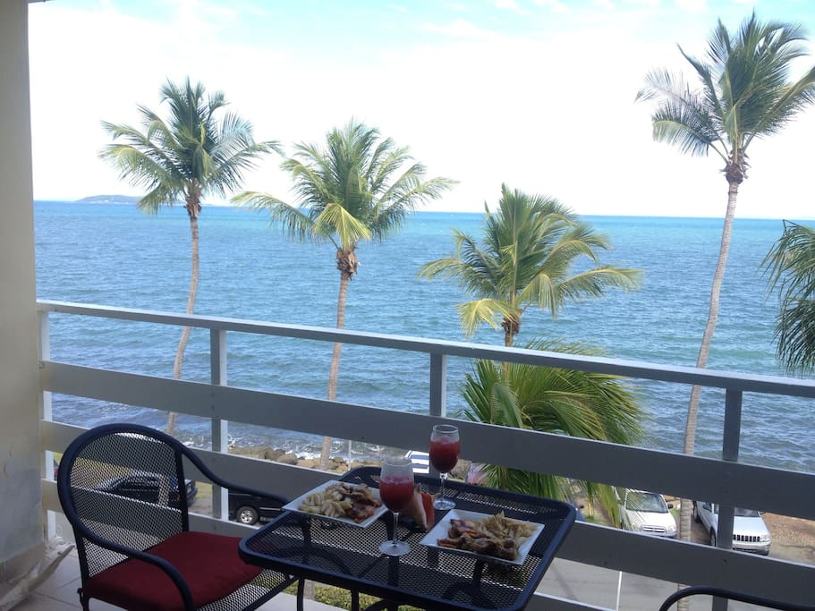 My favorite part: your own personal beachfront restaurant