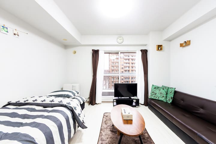 10 minutes walk from Sapporo Station!