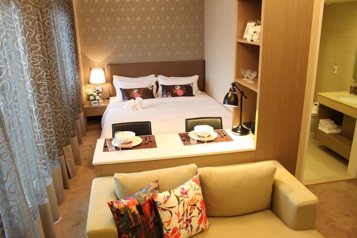 安捷羅馬假期會館-酒店式長租公寓雅緻標準套房Standard Suite