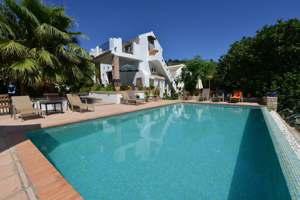 View of the cortijo from the infinity pool