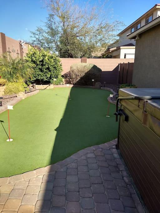 Putting Green in backyard