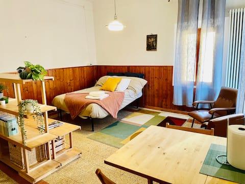 Luminoso apartamento tipo estudio en el centro de monteveglio