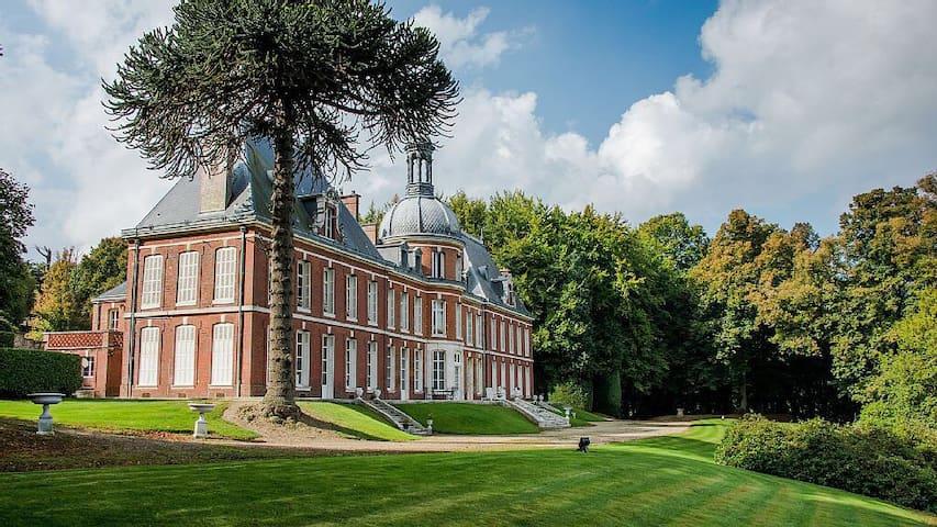 Chambre 1900 chateau en Normandie - Le Landin - Castell