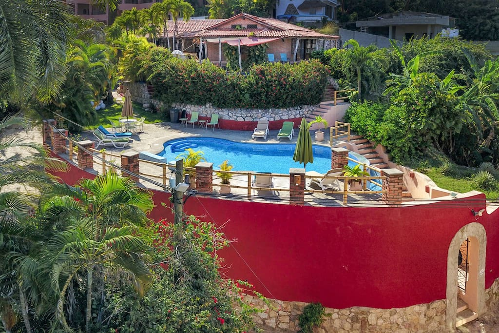 Birdseye view of this authentic casa. A Sayulita original...with lots of upgrades!