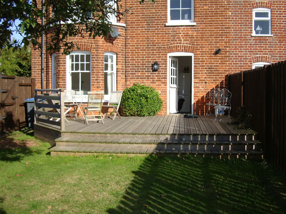 Enclosed Garden with decking