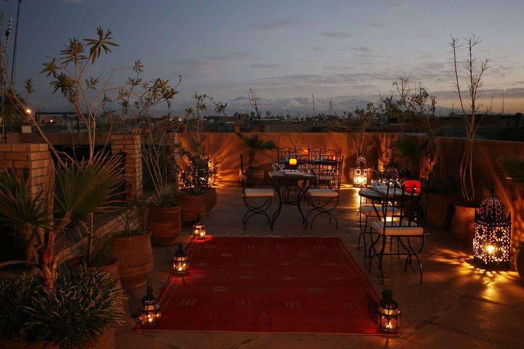 Riad Azenzer - Terrasse de nuit