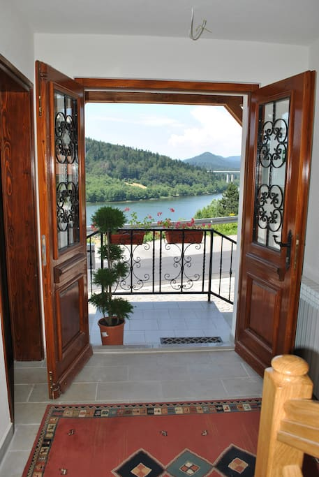 Breathtaking view through the front door