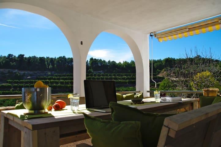 Rustig gelegen villa tussen sinaasappelboomgaarden - Montroy