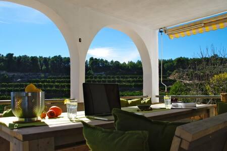 Rustig gelegen villa tussen sinaasappelboomgaarden - Casa de camp