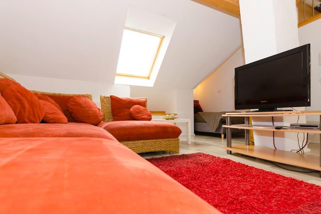 Ferienwohnung burgblick appartementen te huur in for Wohnlandschaft 3 meter