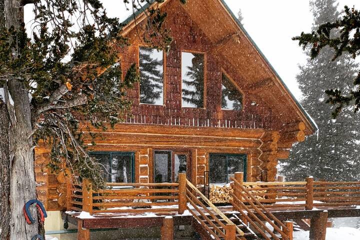 🏔 High Mountain Log Cabin